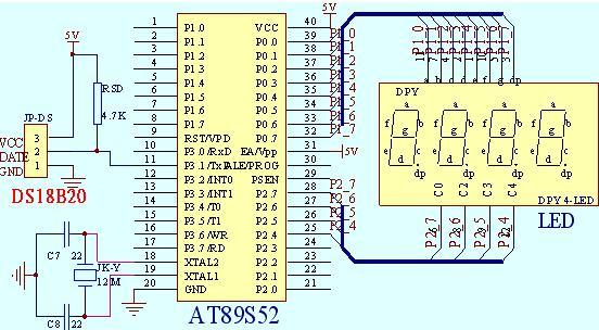 温控系统 电路图及程序
