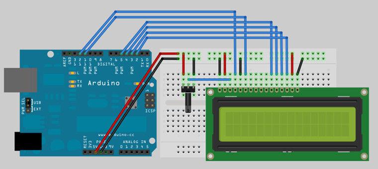arduino教程 lcd 1602