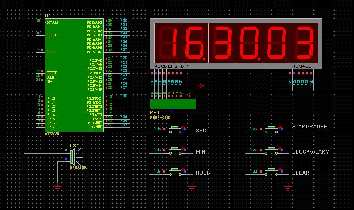 单片机制作—6位led数码管时钟