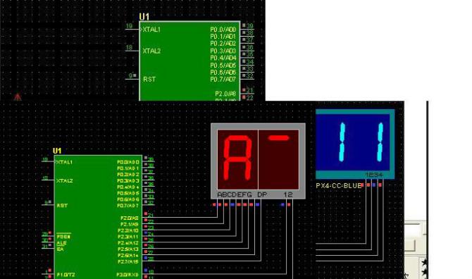 单片机制作—两位数码管显示 c语言 汇编程序 电路图