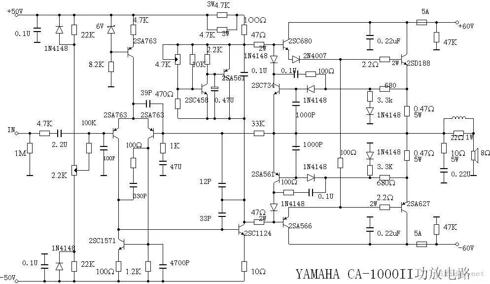 超大功率功放机电路图