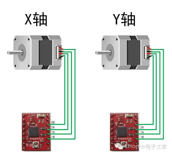 69 arduino 69 激光雕刻机教程    2,  将4988模块与光驱连接,如