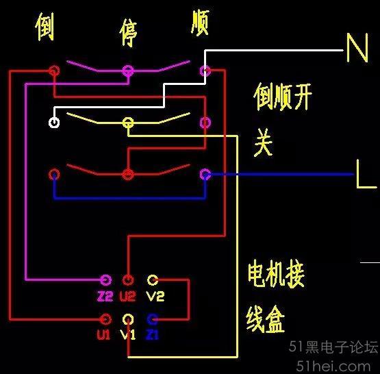 落地扇电机接线图