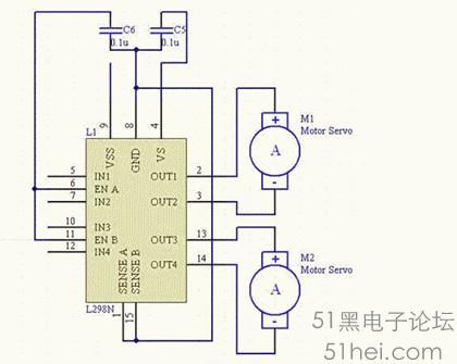 51单片机原理及应用_直流电机的驱动原理及单片机+L298控制程序 - MCU综合技术区