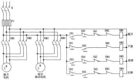 二个电动机的电动葫芦电气控制图