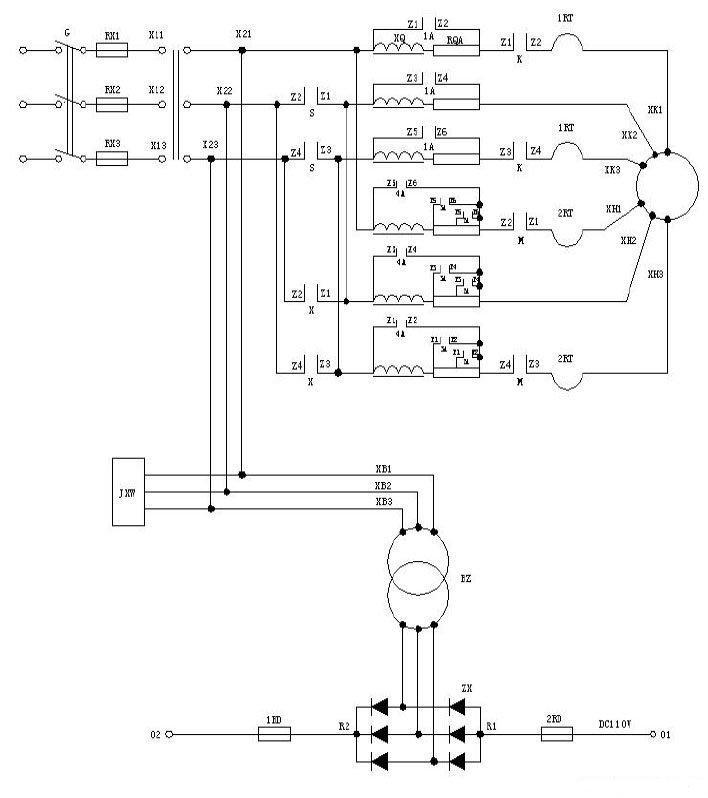 双速电梯电气原理图及plc安装接线图