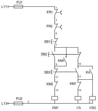 69 plc/自动化/工控 69 接触器控制的双速电动机电路