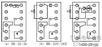 电工电路中间继电器和交流接触器接线图
