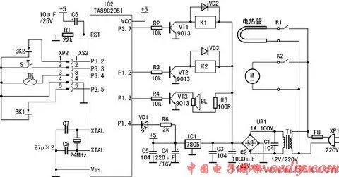 基于单片机的豆浆机电路图