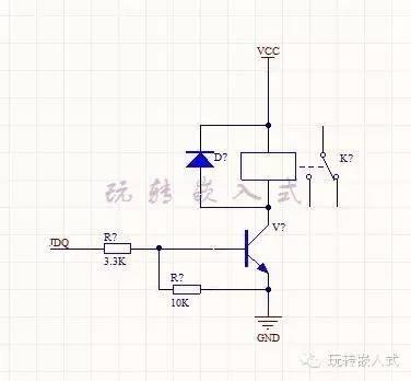 采用npn三极管驱动蜂鸣器