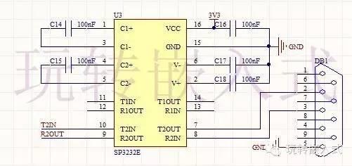这个电路相信大家都不陌生,如果用过51开发板的朋友那肯定见过这个电路。 4. UART3/SIP2通信口设计UART3和SIP2通讯口是复用的,本设计使用SIP2功能,SIP2的功能暂时先保留,最后再介绍,目前我没有想好如何利用该接口。 5. SIP1通讯口设计SPI1接口接入了一颗flash存储芯片,该存储芯片为SO8的封装,该存储芯片为台湾厂商生产,容量1G,2G甚至更高都有,接口方式为SPI通讯,实现方便。
