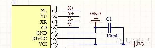 stm32开发板开发过程 6tft真彩屏电路设计