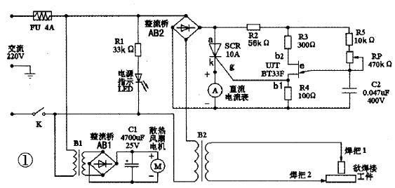 焊机风扇接线图解
