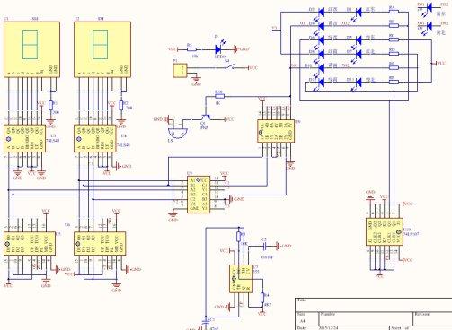 交通信号灯绿灯闪烁_数电交通灯课程设计报告书 - 模拟数字电子技术 单片机论坛