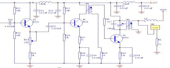 调幅发射器_小功率调幅发射机设计报告(含各级电路的计算与调试) - 无线 ...