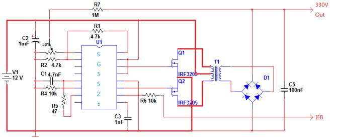 3525稳压逆变器电路图
