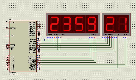 51单片机秒表程序+电路图(汇编语言)
