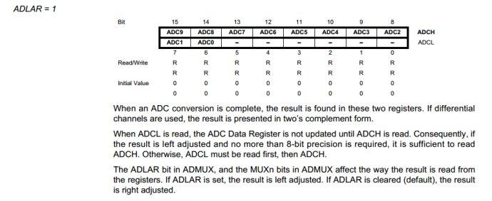 avr 单片机学习(十)atmega16 adc