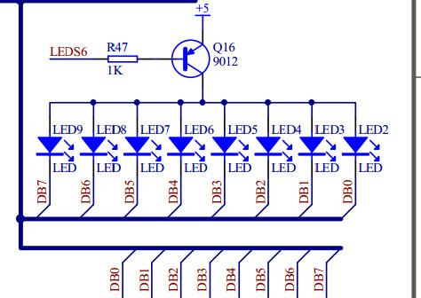 51单片机流水灯程序+电路图