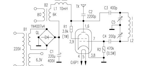 7t85rb5kw电子管接线图