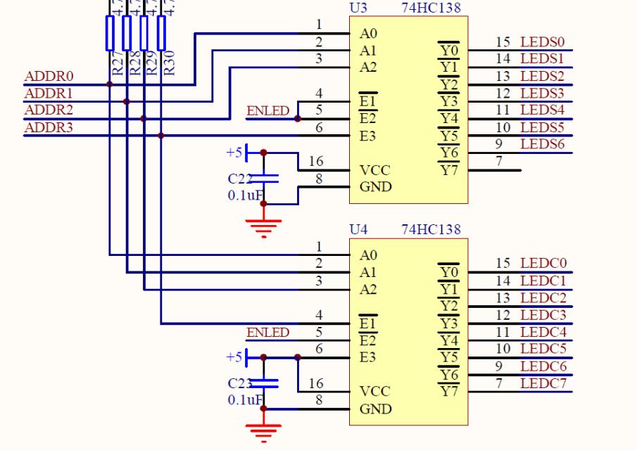 当单片机的IO口输出一个高电平时,三极管导通,输出一个低电平。因为12V的电流从上流到地级;当单片机的IO口输出一个低电平时,三极管截止,因此会输出一个高电平。所以以上就是通过5V的电平来控制12V的电平,从而实现了电平的转换。高电平转换为低电平。