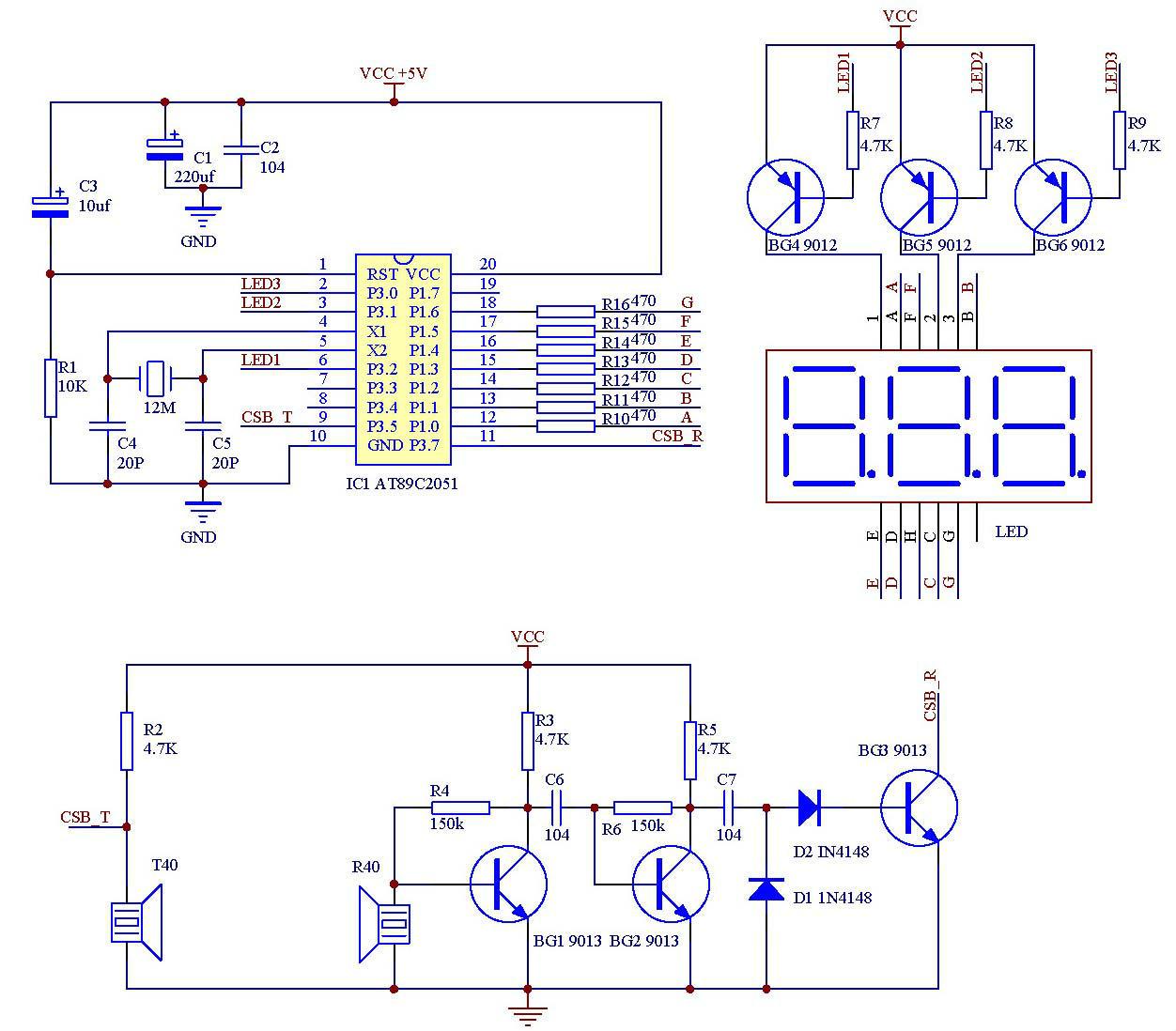 电路简单的超声波测距仪