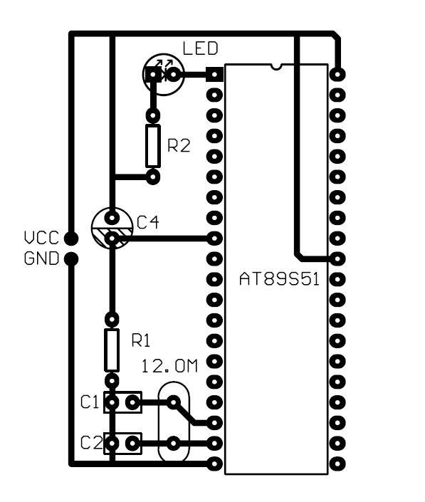 单片机手动复位电路实体焊接图