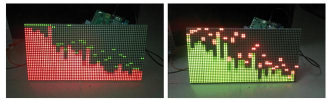 音乐频谱制作 stm32控制 32x64双色点阵 分享资料