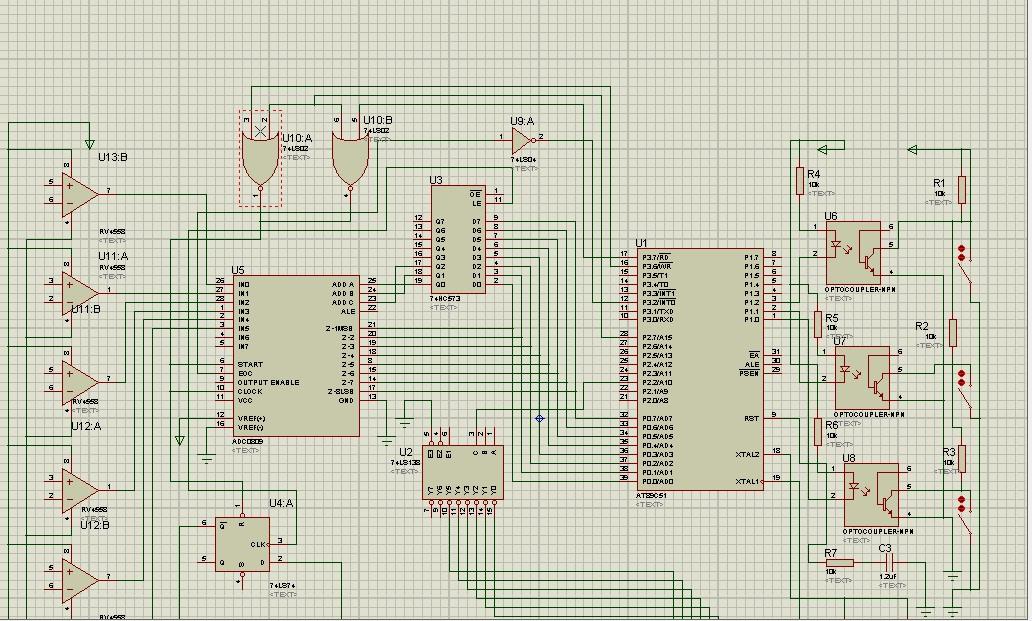 基于单片机的通用数据采集器设计 谁能帮我看看原理图
