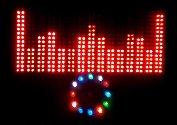 1,焊接led点阵;2,设计控制电路;3,编程 所谓音乐频谱就是将音乐的各个