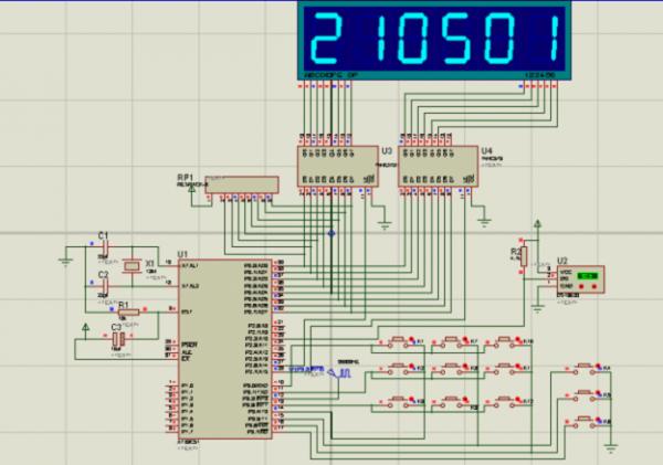 单片机仿真—时钟,温度计和频率计