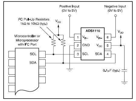 ads1110电路图(官方推荐) - 模拟数字电子技术 单片机