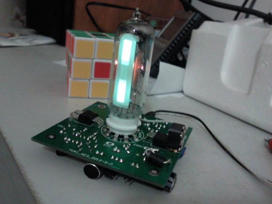终于做了个6e2电平指示(电子管猫眼)