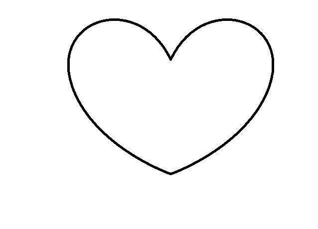 手绘心形图片简单