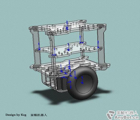 老外做的双轮平衡小车 电路图,程序,以及硬件结构