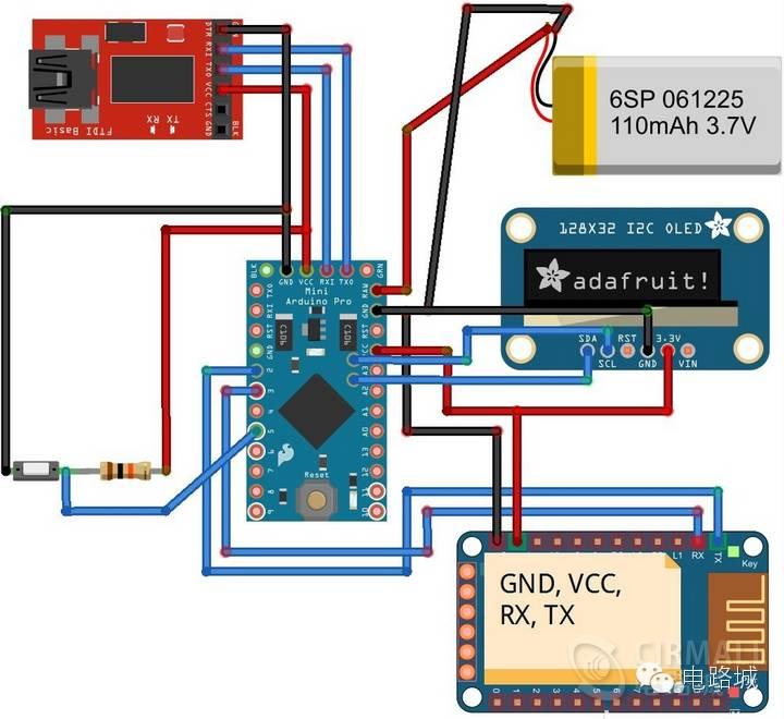 软硬件开源制作arduino蓝牙智能手表,12864oled显示