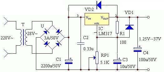 实用电子小制作39例 电路图