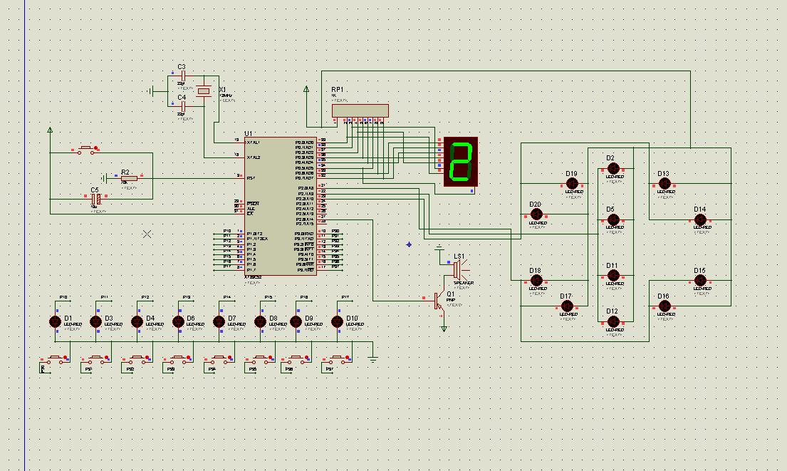 单片机八层电梯控制系统 仿真图 源程序 电路原理图
