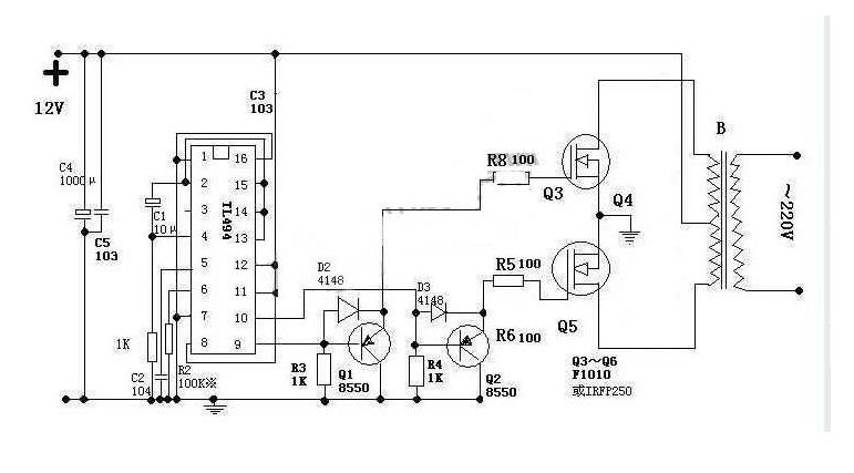 能给我介绍下tl494逆变电路的工作原理吗?