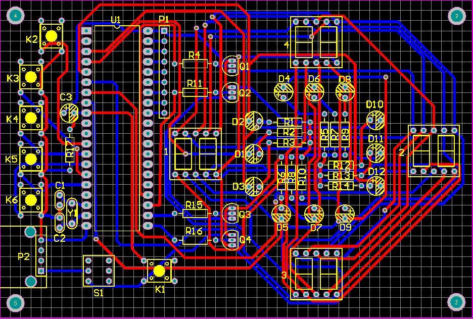 基于单片机的交通灯课程设计 带pcb文件 仿真 程序 原理图(altium