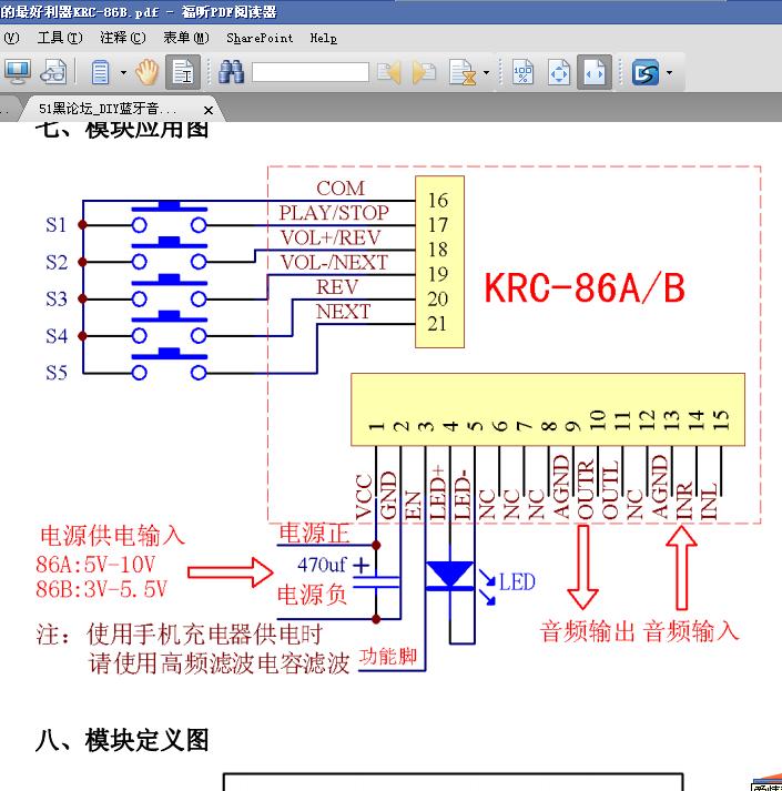 hifi音响论坛_DIY蓝牙音响的最好利器KRC-86B.pdf - 音响/功放/HIFI diy 单片机论坛