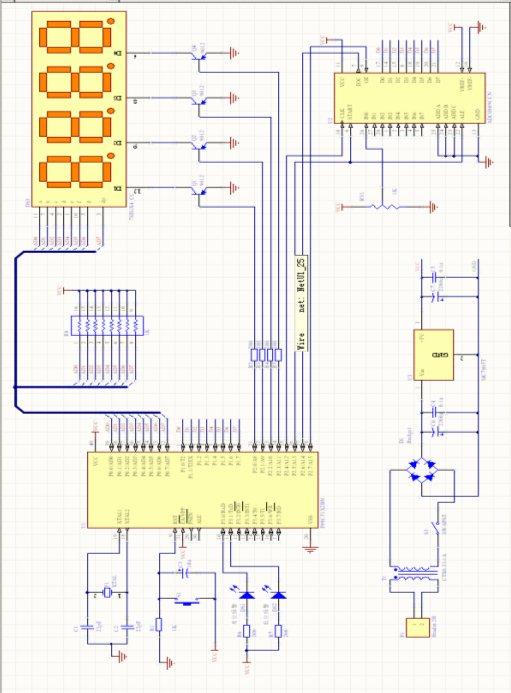 单片机水塔水位控制仿真加程序 含毕业设计(论文)