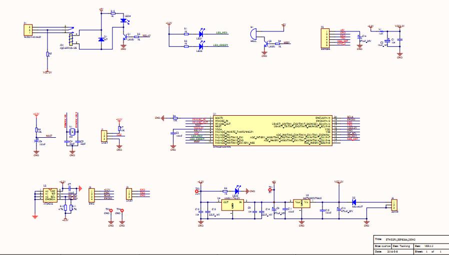基于STM32F030 ESP8266 制作的wifi控制板电路图 STM32 8 单片机论图片