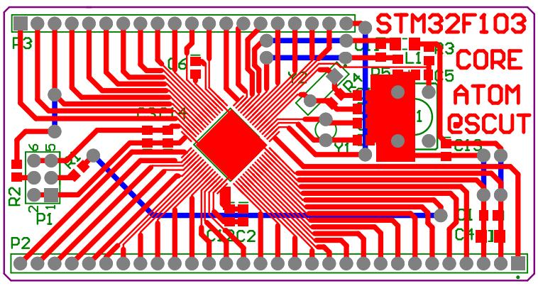 stm32开发板,核心板电路图和pcb源文件,源程序