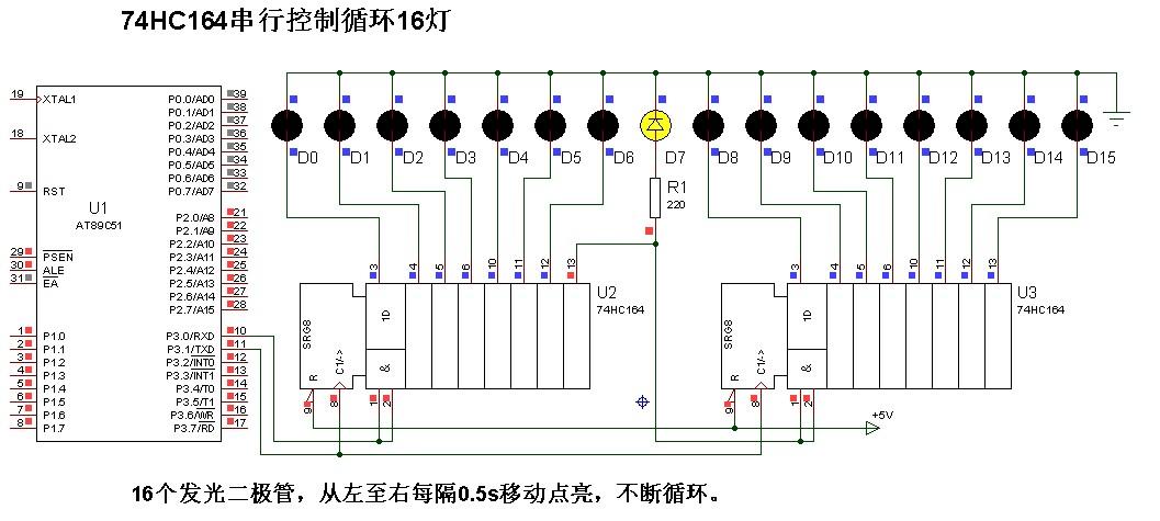 用定时器实现16个led灯轮流点亮(流水灯)