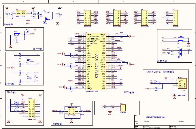 STM32单片机开发板及核心板diy制作资料 含PCB 电路原理图下载 带图片