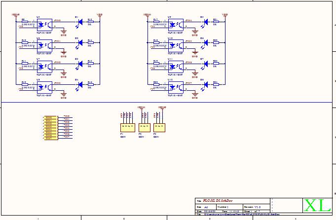 串口控制八路继电器模块原理图