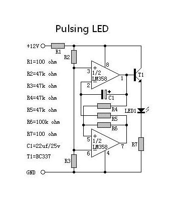 呼吸灯制作 c语言 汇编版还有lm358和ne555直接驱动