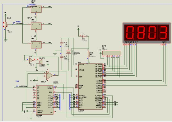 数字电压表课程设计试验报告 带源码和仿真