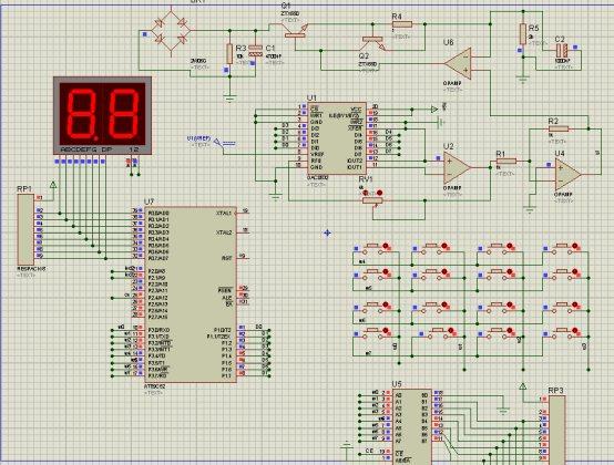 数控直流稳压电源设计实验报告 带proteus仿真 源程序